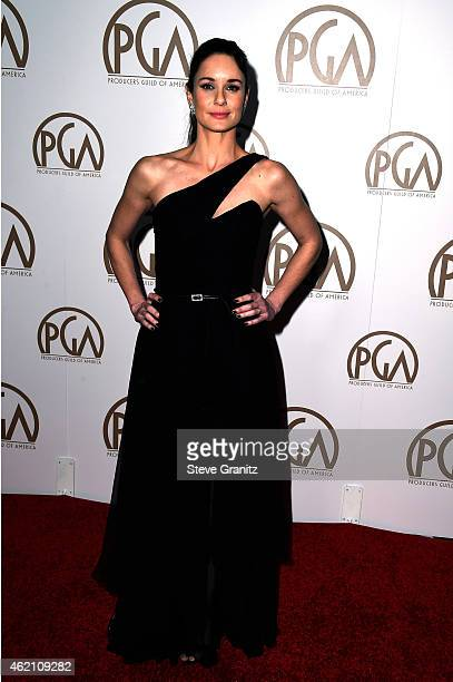 Actress Sarah Wayne Callies attends the 26th Annual Producers Guild Of America Awards at the Hyatt Regency Century Plaza on January 24 2015 in Los...