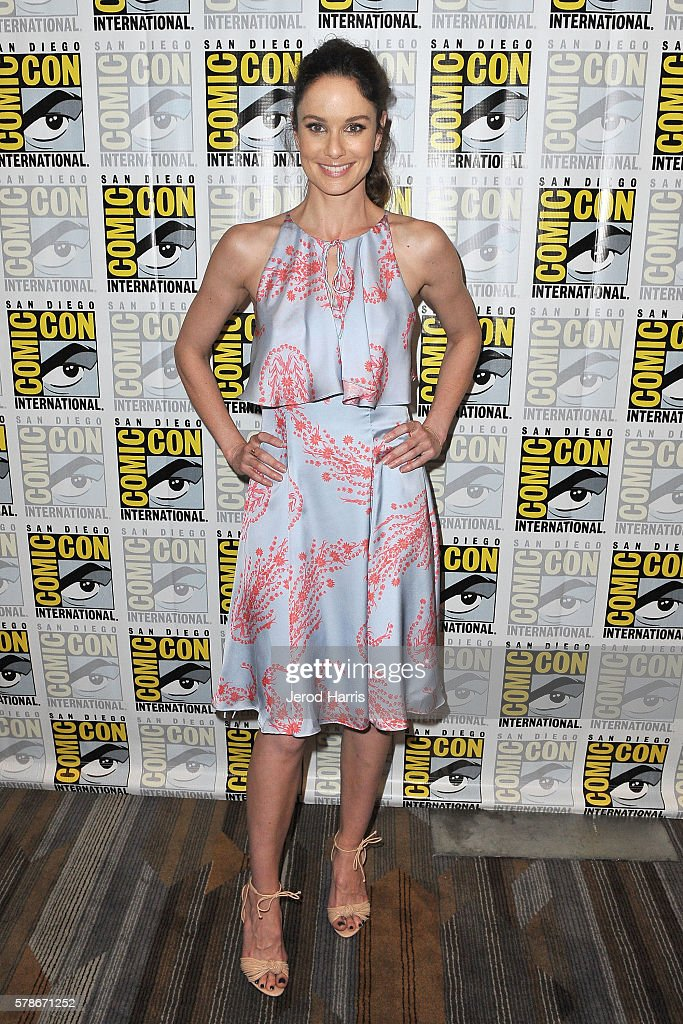 Actress Sarah Wayne Callies attends the press line for 'Colony' at Comic Con on July 21, 2016 in San Diego, California.