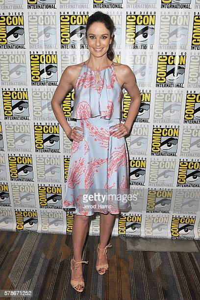 Actress Sarah Wayne Callies attends the press line for 'Colony' at Comic Con on July 21 2016 in San Diego California