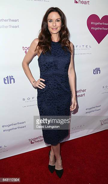 Actress Sarah Wayne Callies attends together1heart launch party hosted by AnnaLynne McCord at Sofitel Hotel on June 25 2016 in Los Angeles California