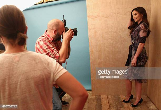 Actress Sarah Wayne Callies of USA Network's 'Colony' attends Behind The Scenes Of The Getty Images Portrait Studio Powered By Samsung Galaxy At 2015...