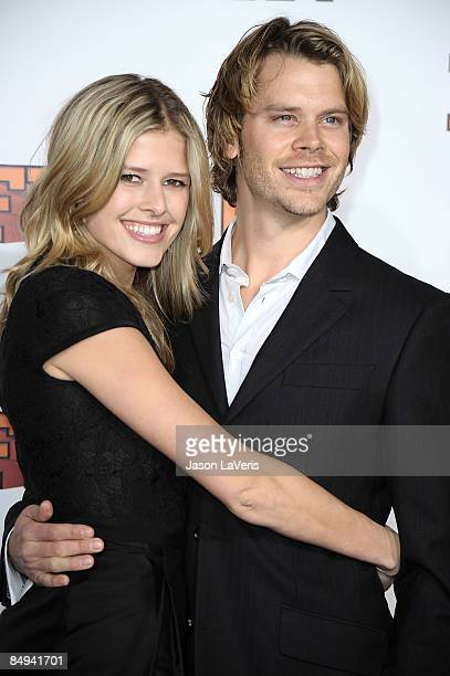 Actress Sarah Wright and actor Eric Christian Olsen attend the premiere of Fired Up at Pacific Culver Theatre on February 19 2009 in Culver City...