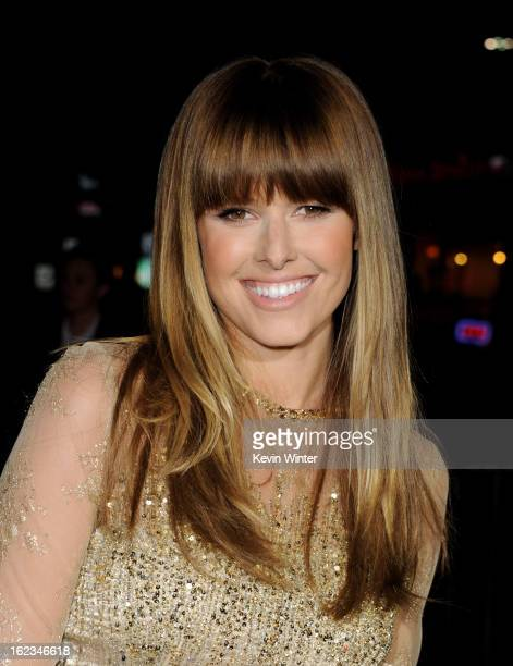 Actress Sarah Wright arrives at the premiere of Relativity Media's 21 And Over at the Village Theatre on February 21 2013 in Los Angeles California