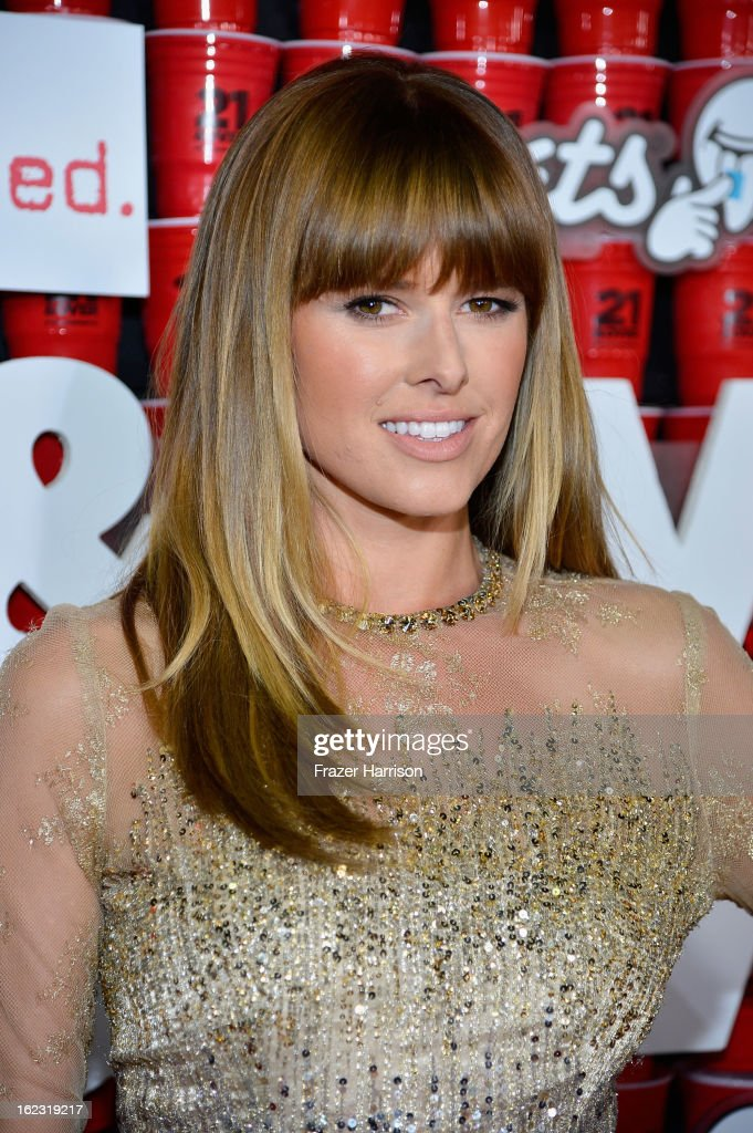 Actress Sarah Wright attends Relativity Media's '21 and Over' premiere at Westwood Village Theatre on February 21, 2013 in Westwood, California.