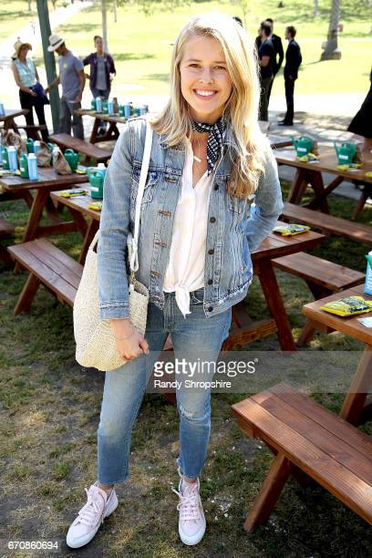 Actress Sarah Wright Olsen attends Caruso hosts a community garden in honor of Earth Day in partnership with Environmental Media Association Kellogg...