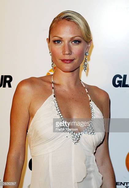 Actress Sarah Wynter arrives at the Entertainment Tonight Emmy Party Sponsored by GLAMOUR held at the Mondrian on September 21, 2003 in Hollywood...