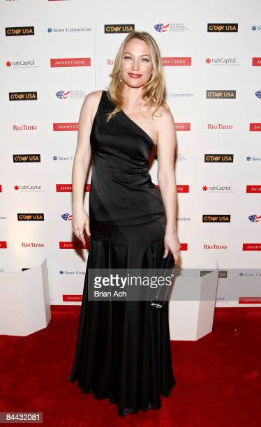 Actress Sarah Wynter arrives at the G'Day Australia Black Tie Gala at the Waldorf Astoria Hotel on January 23 in New York City