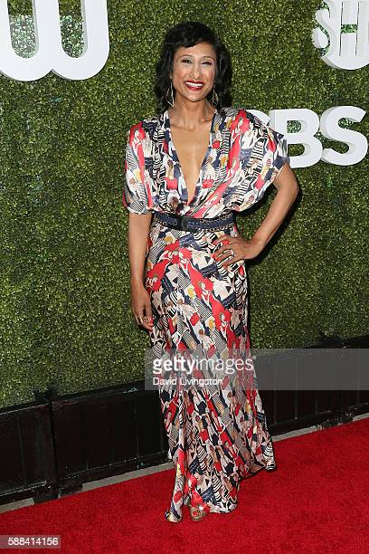 Actress Sarayu Blue arrives at the CBS CW Showtime Summer TCA Party at the Pacific Design Center on August 10 2016 in West Hollywood California