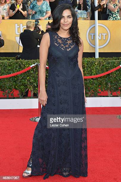 Actress Sarita Choudhury attends the 20th Annual Screen Actors Guild Awards at The Shrine Auditorium on January 18 2014 in Los Angeles California