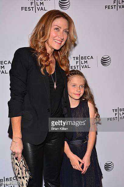 Actress Sasha Alexander and daughter Lucia Ponti attend the Shorts Program Soul Survivors during the 2014 Tribeca Film Festival at AMC Loews Village...
