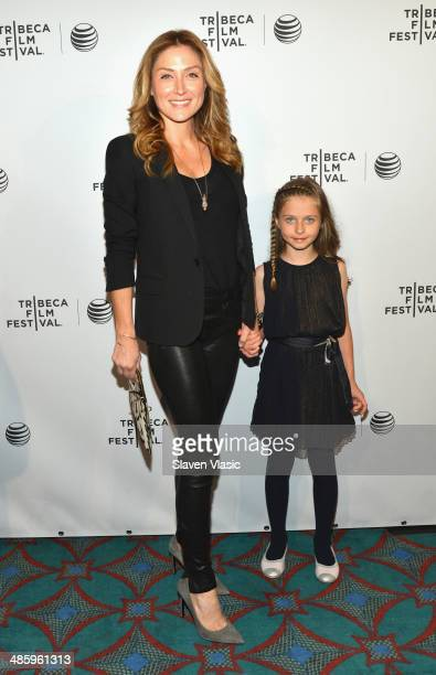 Actress Sasha Alexander and daughter Lucia Sofia Ponti attend the Shorts Program Soul Survivors during the 2014 Tribeca Film Festival at AMC Loews...
