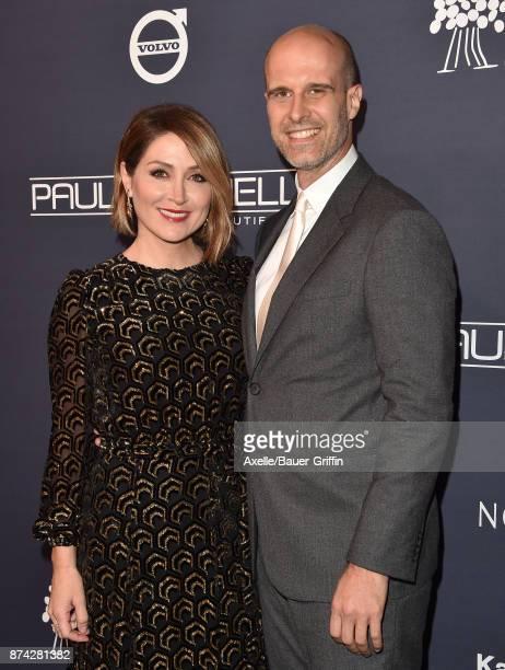 Actress Sasha Alexander and director Edoardo Ponti attend the 2017 Baby2Baby Gala at 3LABS on November 11 2017 in Culver City California