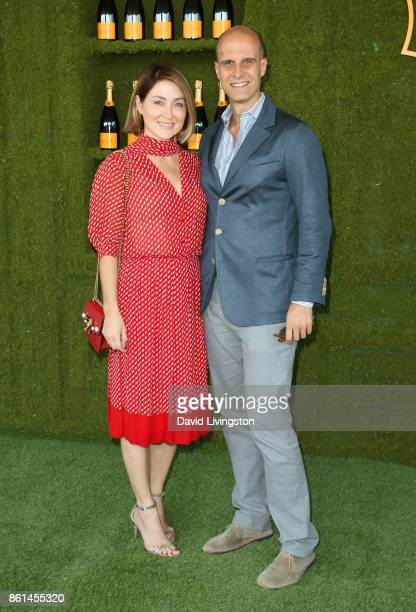 Actress Sasha Alexander and director Edoardo Ponti attend the 8th Annual Veuve Clicquot Polo Classic at Will Rogers State Historic Park on October 14...