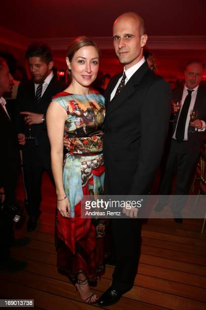 Actress Sasha Alexander and Director Edoardo Ponti attend The Girl From Nagasaki Dinner hosted by Michel Comte at Hotel Du Cap Eden Roc during The...