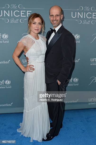 Actress Sasha Alexander and producer Edoardo Ponti arrive to the 2014 UNICEF Ball Presented by Baccarat at the Regent Beverly Wilshire Hotel on...