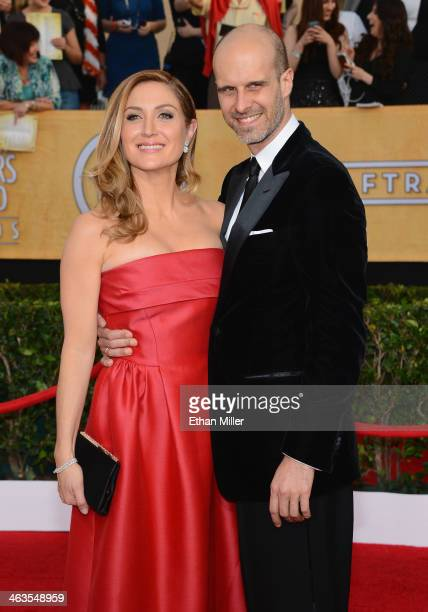 Actress Sasha Alexander and producer Edoardo Ponti attend the 20th Annual Screen Actors Guild Awards at The Shrine Auditorium on January 18 2014 in...