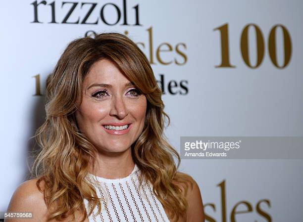Actress Sasha Alexander arrives at the 100 Episode Celebration of TNT's 'Rizzoli and Isles' at Cicada on July 9 2016 in Los Angeles California