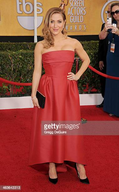 Actress Sasha Alexander arrives at the 20th Annual Screen Actors Guild Awards at The Shrine Auditorium on January 18 2014 in Los Angeles California
