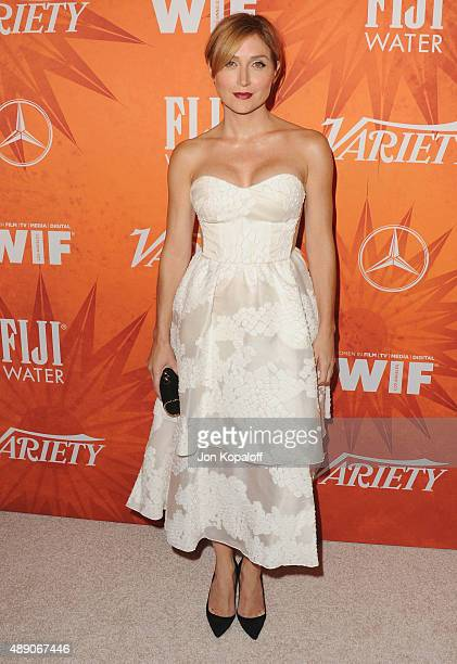 Actress Sasha Alexander arrives at the Variety And Women In Film Annual PreEmmy Celebration at Gracias Madre on September 18 2015 in West Hollywood...