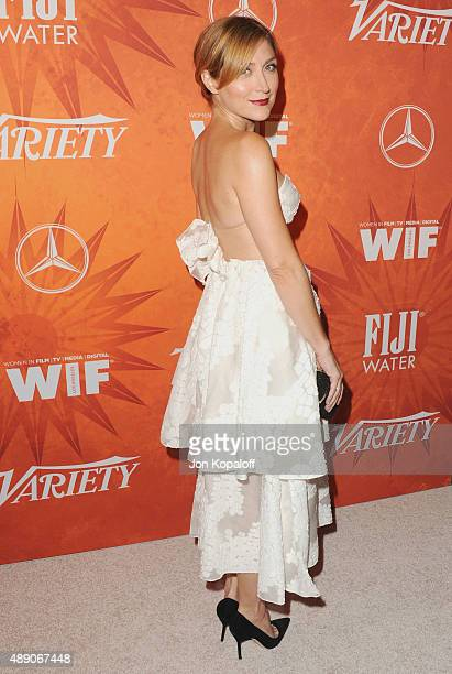 Actress Sasha Alexander arrives at the Variety And Women In Film Annual Pre-Emmy Celebration at Gracias Madre on September 18, 2015 in West...