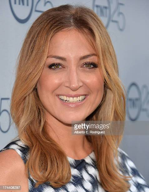Actress Sasha Alexander arrives to TNT's 25th Anniversary Party at The Beverly Hilton Hotel on July 24 2013 in Beverly Hills California