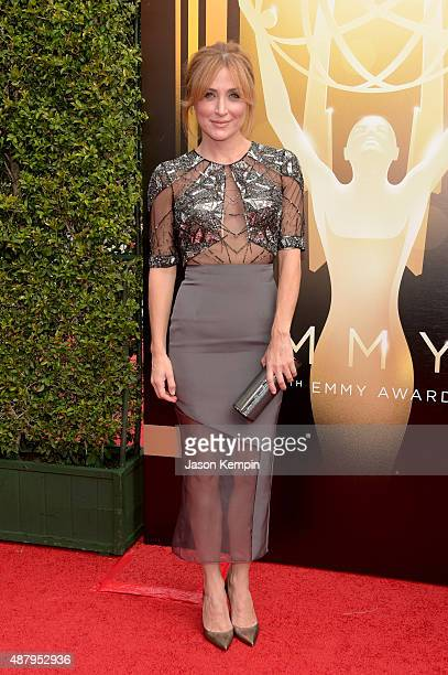 Actress Sasha Alexander attends the 2015 Creative Arts Emmy Awards at Microsoft Theater on September 12 2015 in Los Angeles California