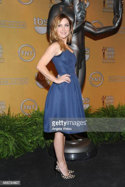 Actress Sasha Alexander attends the 20th Annual Screen Actors Guild Awards Nominations Announcement at Pacific Design Center on December 11 2013 in...