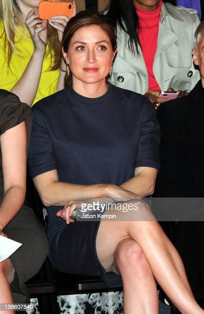 Actress Sasha Alexander attends the Chadwick Bell Fall 2012 fashion show during MercedesBenz Fashion at The Studio at Lincoln Center on February 9...