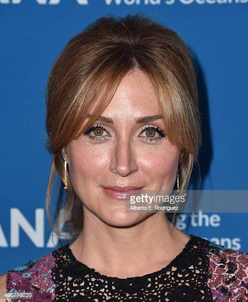 Actress Sasha Alexander attends the 'Concert For Our Oceans' hosted by Seth MacFarlane benefitting Oceana at The Wallis Annenberg Center for the...