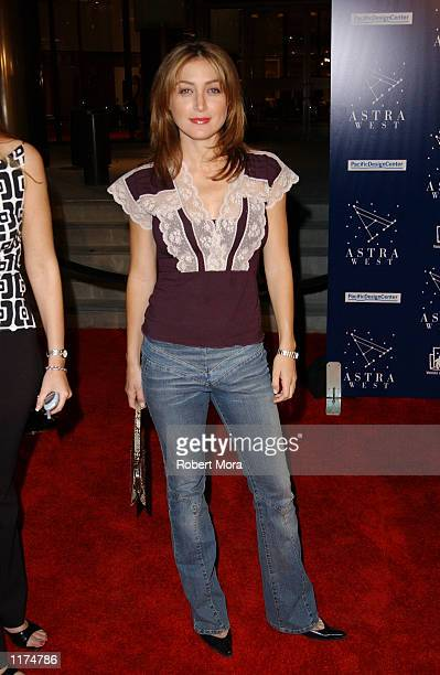 Actress Sasha Alexander attends the grand opening of Chef Charlie Palmer's new special events and catering venue Astra West at the Pacific Design...