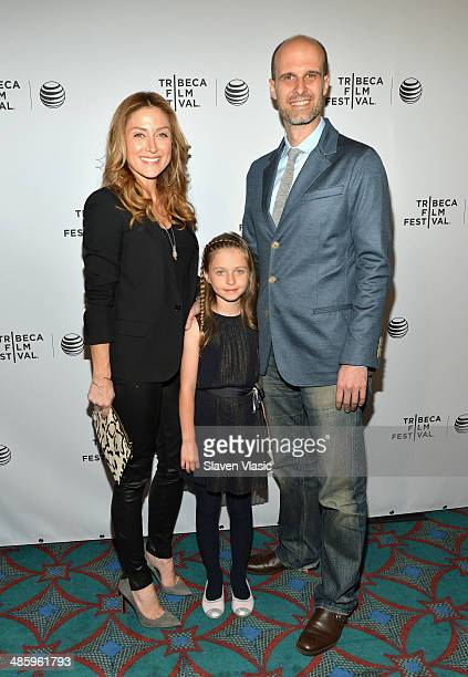 Actress Sasha Alexander director Edoardo Ponti and daughter Lucia Sofia Ponti attend the Shorts Program Soul Survivors during the 2014 Tribeca Film...