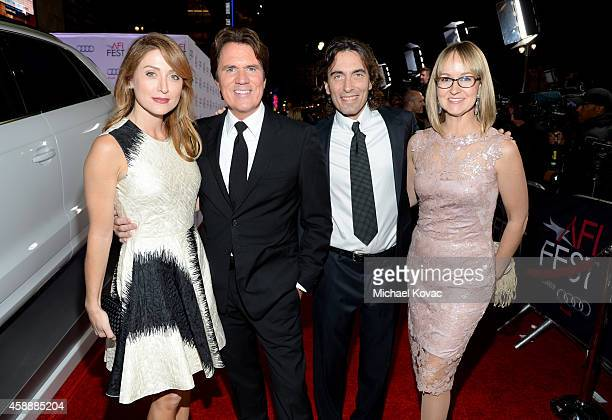 Actress Sasha Alexander director Rob Marshall conductor Carlo Ponti and violinist Andrea Meszaros Ponti attend the special tribute to Sophia Loren...