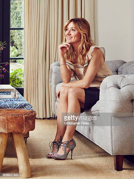 Actress Sasha Alexander is photographed at her home for Domaine Home on March 11 2015 in Los Angeles California Published Image