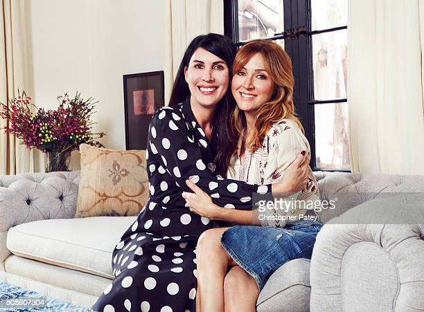 Actress Sasha Alexander is photographed with Cristina Ehrlich at her home for Domaine Home on March 11 2015 in Los Angeles California Published Image