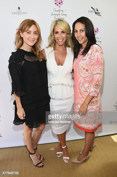 Actress Sasha Alexander Tracy Tutor Maltas and politician Autumn Burke attended a tea party to support the Charlotte Gwenyth Gray Foundation to cure...