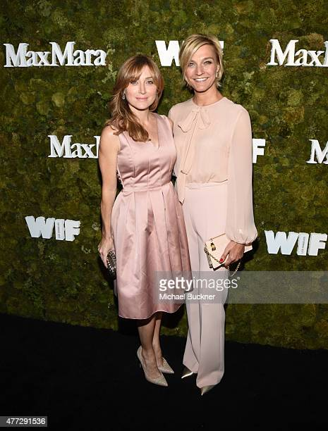 Actress Sasha Alexander wearing Max Mara and Max Mara Brand Ambassador Nicola Maramotti attend The Max Mara 2015 Women In Film Face Of The Future...