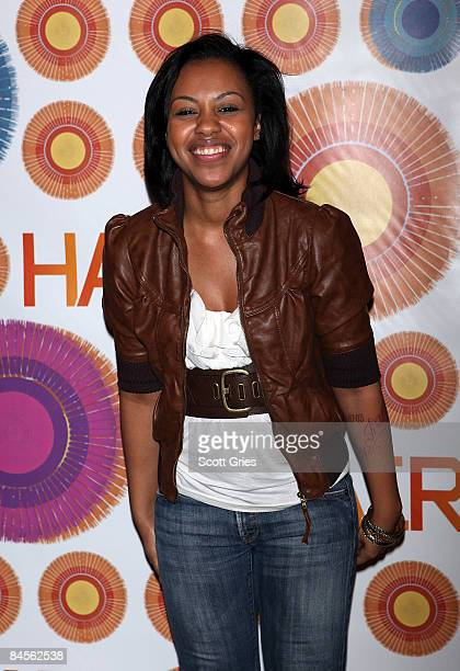 Actress Sasha Allen poses for a photo during a meetandgreet with the cast and creative team of Hair at the Union Square Theatre on January 30 2009 in...