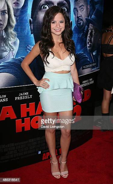 Actress Sasha Clements attends the premiere of Open Road Films' 'A Haunted House 2' at Regal Cinemas LA Live on April 16 2014 in Los Angeles...