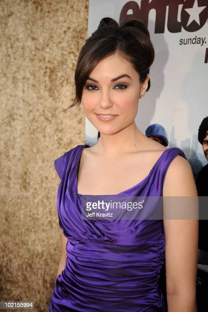 Actress Sasha Grey arrives at HBO's Entourage Season 7 premiere held at Paramount Theater on the Paramount Studios lot on June 16 2010 in Hollywood...