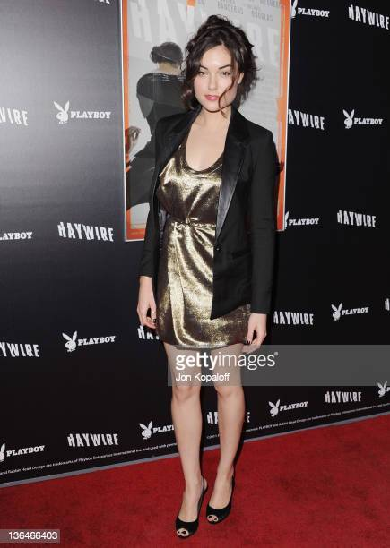 """Actress Sasha Grey arrives at the Los Angeles Premiere """"Haywire"""" at Directors Guild Of America on January 5, 2012 in Los Angeles, California."""