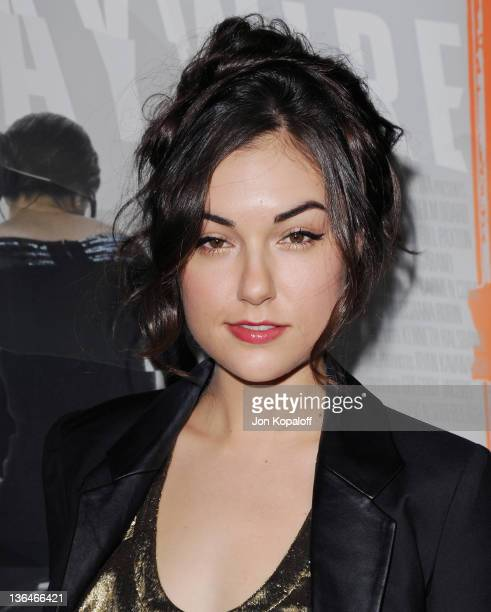 Actress Sasha Grey arrives at the Los Angeles Premiere Haywire at Directors Guild Of America on January 5 2012 in Los Angeles California
