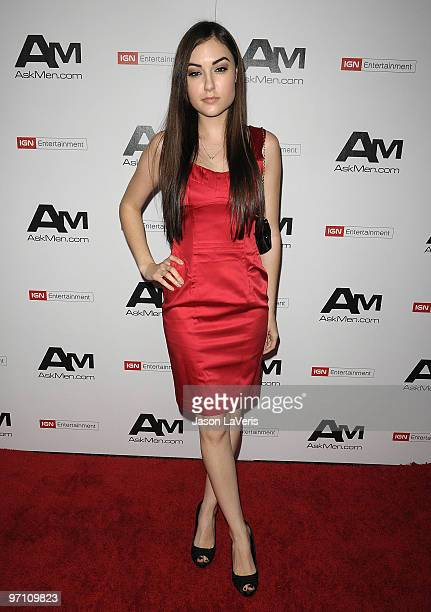 Actress Sasha Grey attends AskMencom's Top 99 Most Desirable Women Of 2010 party at MyHouse Nightclub on February 25 2010 in Hollywood California