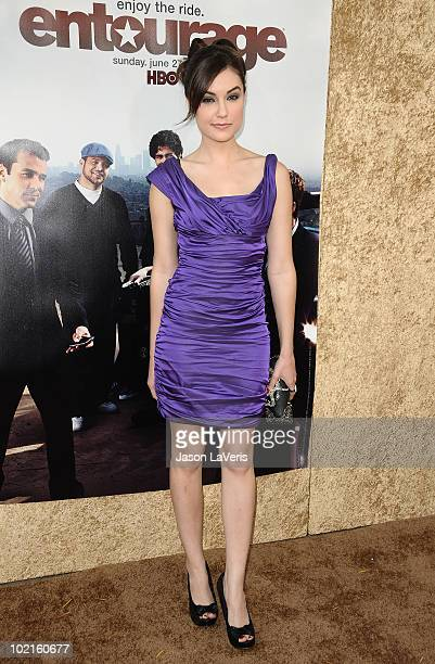 Actress Sasha Grey attends the season 7 premiere of HBO's Entourage at Paramount Studios on June 16 2010 in Los Angeles California