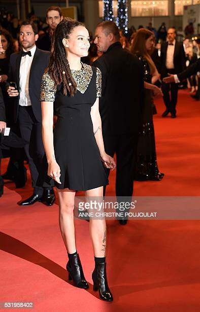 US actress Sasha Lane arrives on May 17 2016 for the screening of the film Personal Shopper at the 69th Cannes Film Festival in Cannes southern...