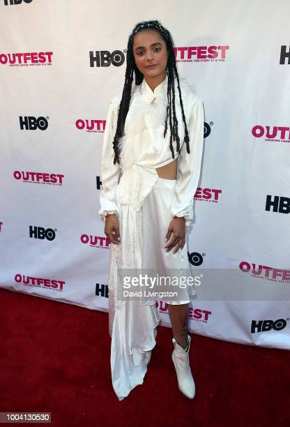 Actress Sasha Lane attends the 2018 Outfest Los Angeles LGBT Film Festival closing night gala screening of 'The Miseducation of Cameron Post' at The...