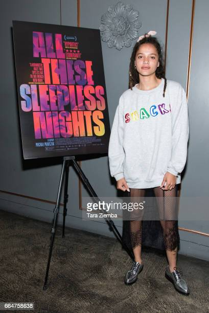 Actress Sasha Lane attends the premiere of The Orchard's 'All These Sleepless Nights' at the Regent Theater on April 4 2017 in Los Angeles California