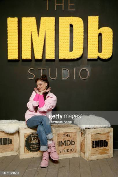 Actress Sasha Lane from 'Hearts Beat Loud' attends The IMDb Studio at The Sundance Film Festival on January 19 2018 in Park City Utah