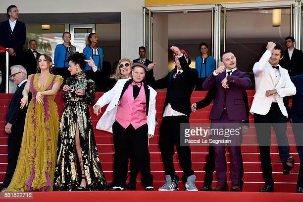 Actress Sasha Lane Riley Keough director Andrea Arnold actors Veronica Ezell Raymond Coalson Isaiah Stone McCaul Lombardi and Shia LaBeouf attend the...