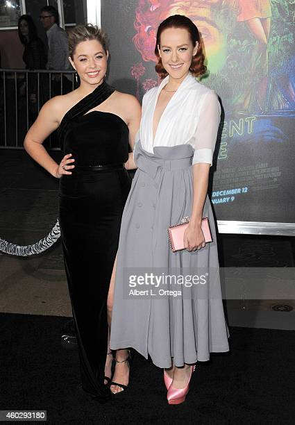 Actress Sasha Pieterse and actress Jena Malone arrive for the Premiere Of Warner Bros Pictures' 'Inherent Vice' held at TCL Chinese Theatre on...