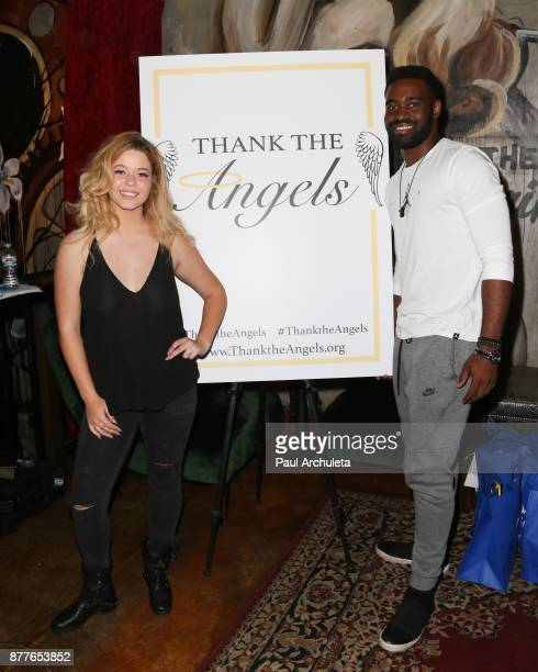Actress Sasha Pieterse and Dancer / TV Personality Keo Motsepe attend the stuffing of the bags for the 'Thank The Angels Thanksgiving Charity' event...
